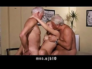 threesome,group,grandpa,dicksucking,blondes