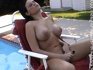 bikini,brunette,wet,pool,vibrator
