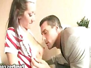 hardcore,blowjob,brunette,uniform,titlicking