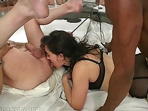 stockings,asshole,latina,interracial,ejaculation